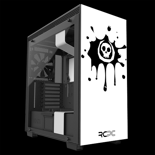 NZXT H710 White-Black Skull Splat Wrap