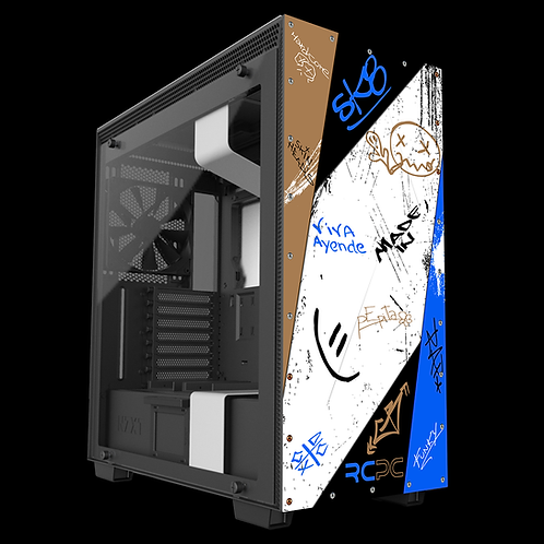 NZXT H710 Blue-Black-Brown Graffiti Grunge Wrap