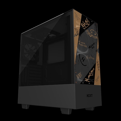 NZXT H510 Elite Brown-Grey-Black Graffiti Grunge Wrap