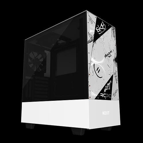 NZXT H510 Elite White-Black Graffiti Grunge Wrap