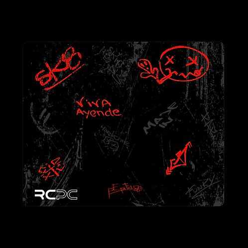 Red-Black-Grey Graffiti Grunge Mouse Pad