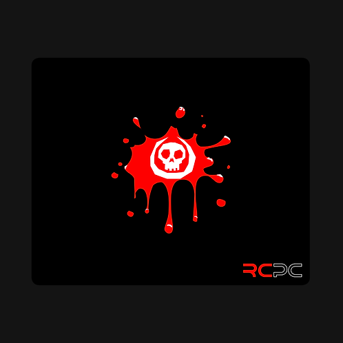 White-Red Skull Splat Mouse Pad