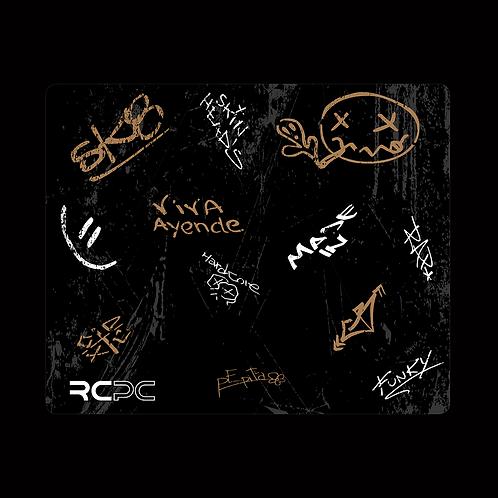 Brown-Black-White-Grey Graffiti Grunge Mouse Pad