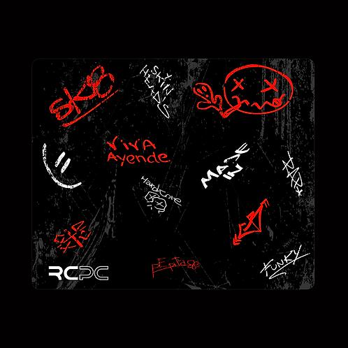 Red-Black-White-Grey Graffiti Grunge Mouse Pad