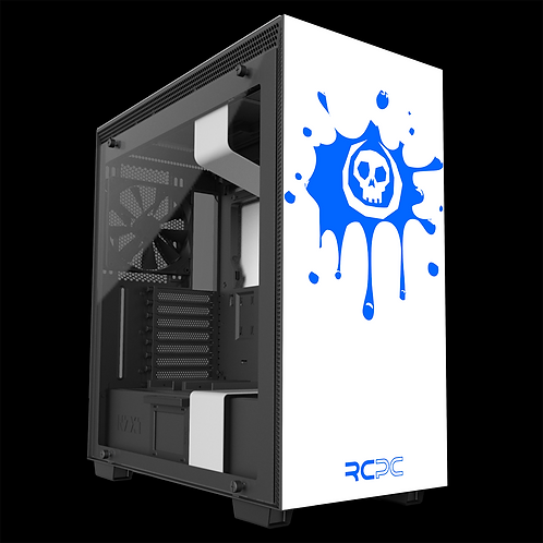 NZXT H710 White-Blue Skull Splat Wrap