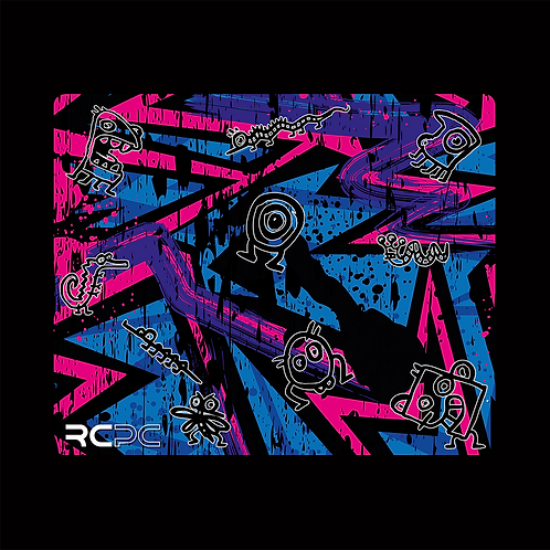 Pink-Purple-Blue Abstract Grunge Mouse Pad