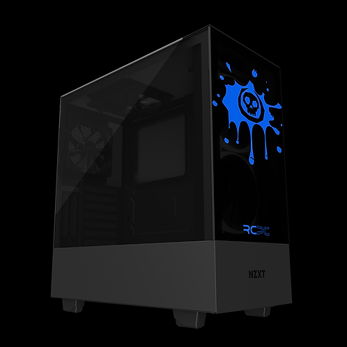 NZXT H510 Elite Black-Blue Skull Splat Wrap