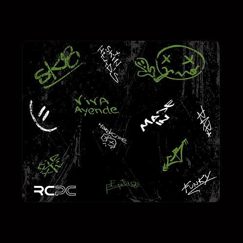 Green-Black-White-Grey Graffiti Grunge Mouse Pad