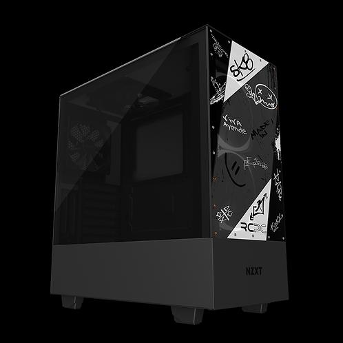 NZXT H510 Elite Black-White-Grey Graffiti Grunge Wrap