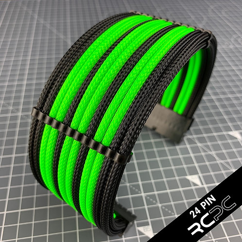 Black and Atomic Green Cable Extension Set