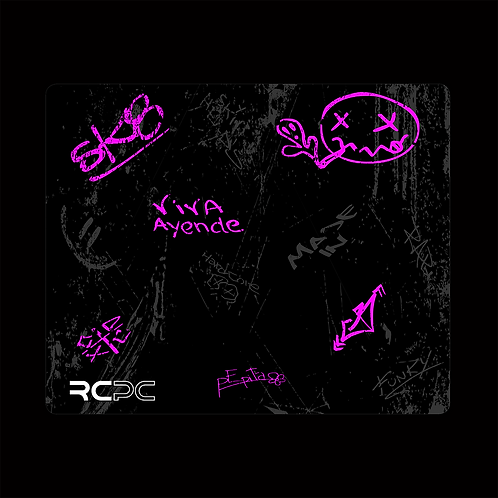 Pink-Black-Grey Graffiti Grunge Mouse Pad