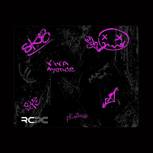 Pink-Black-Grey Graffiti Grunge Mouse Pad