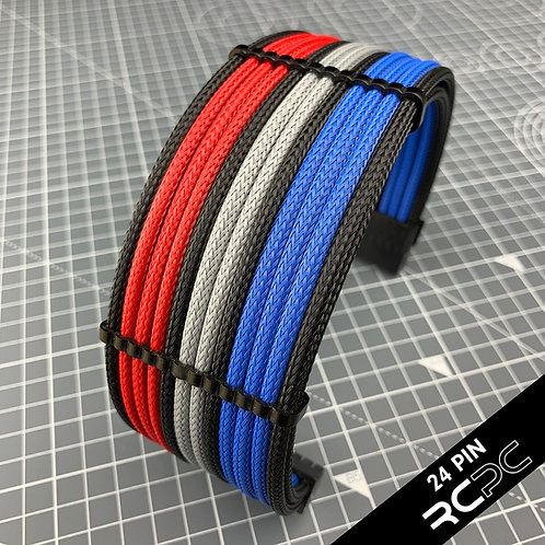 Italian Red, B-Magic, Platinum Grey and Black Cable Extension Set