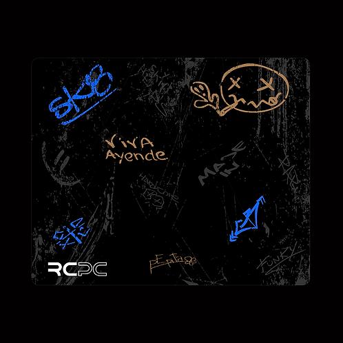 Blue-Black-Brown-Grey Graffiti Grunge Mouse Pad