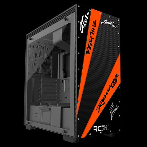 NZXT H710 Black-Orange-Carbon Fibre GT Sport Wrap