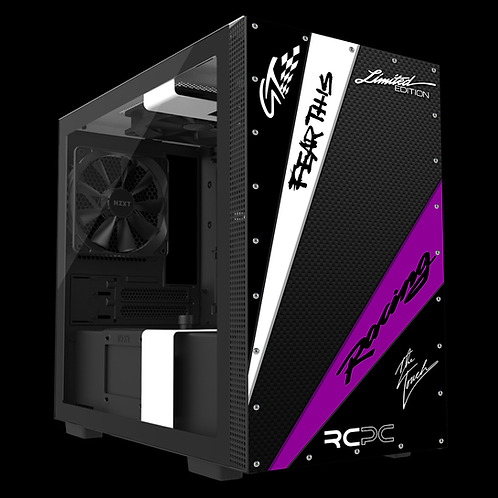 NZXT H210 Black-Purple-White-Carbon Fibre GT Sport Wrap