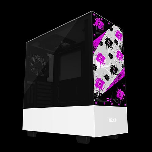 NZXT H510 Elite Pink-Black-White Floral Grunge Wrap