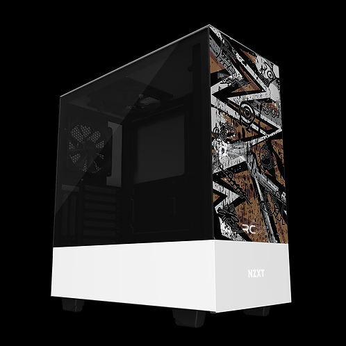 NZXT H510 Elite Brown-Grey-White Abstract Grunge Wrap