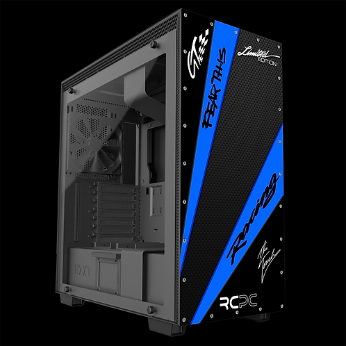 NZXT H710 Blue-Carbon Fibre-Black GT Sport Wrap