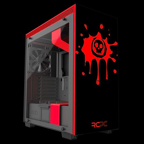 NZXT H710 Black-Red Skull Splat Wrap