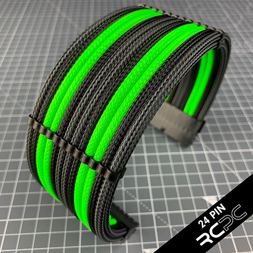 Carbon BTI, Black and Atomic Green Cable Extension Set