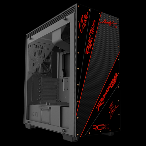 NZXT H710 Dark Red-Carbon Fibre-Black GT Sport Wrap