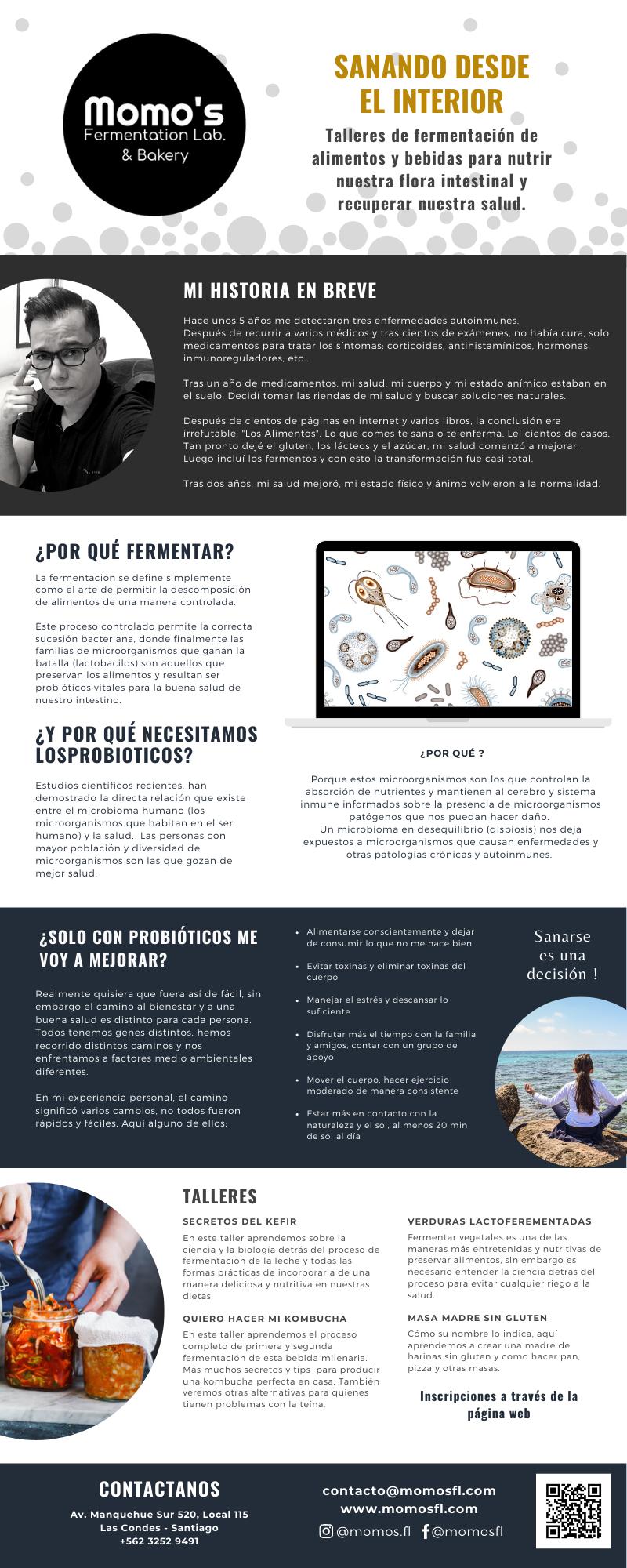 Infografía Momos Fermentation Lab.
