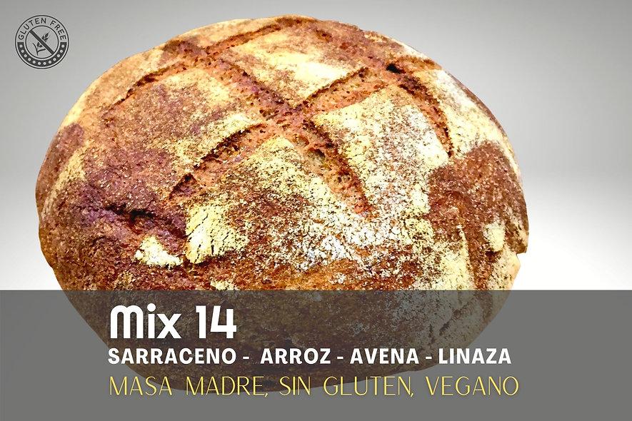 Pan artesanal Mix 14