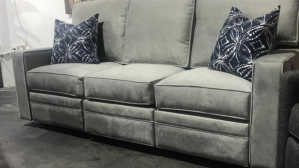 Square Arm Reclining Sofa - Power