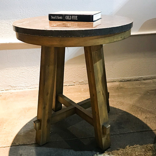 Blue Stone End Table - Round