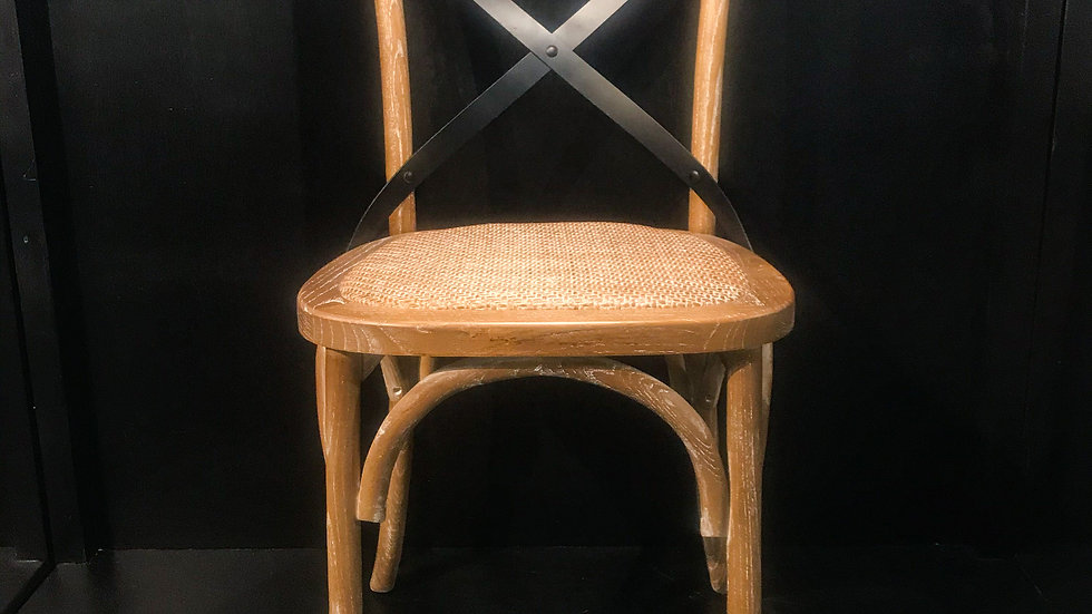 Iron/Rattan X-Back Chair