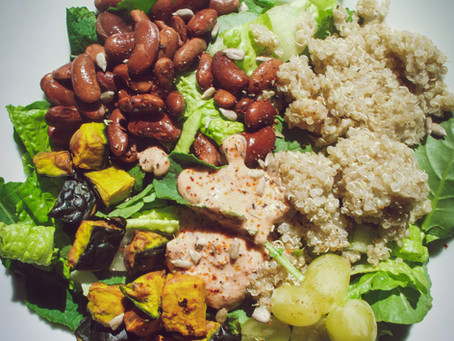 Autumn Kabocha Squash + Coconut Salsa Ranch Salad