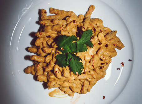 Pumpkin, Yellow Curry, & Cashew Pasta