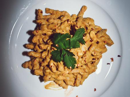 Pumpkin, Yellow Curry, & Cashew Pasta