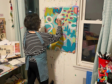 An artist and her studio