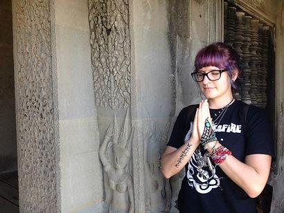 Vanessa at Ankgor Wat Cambodia