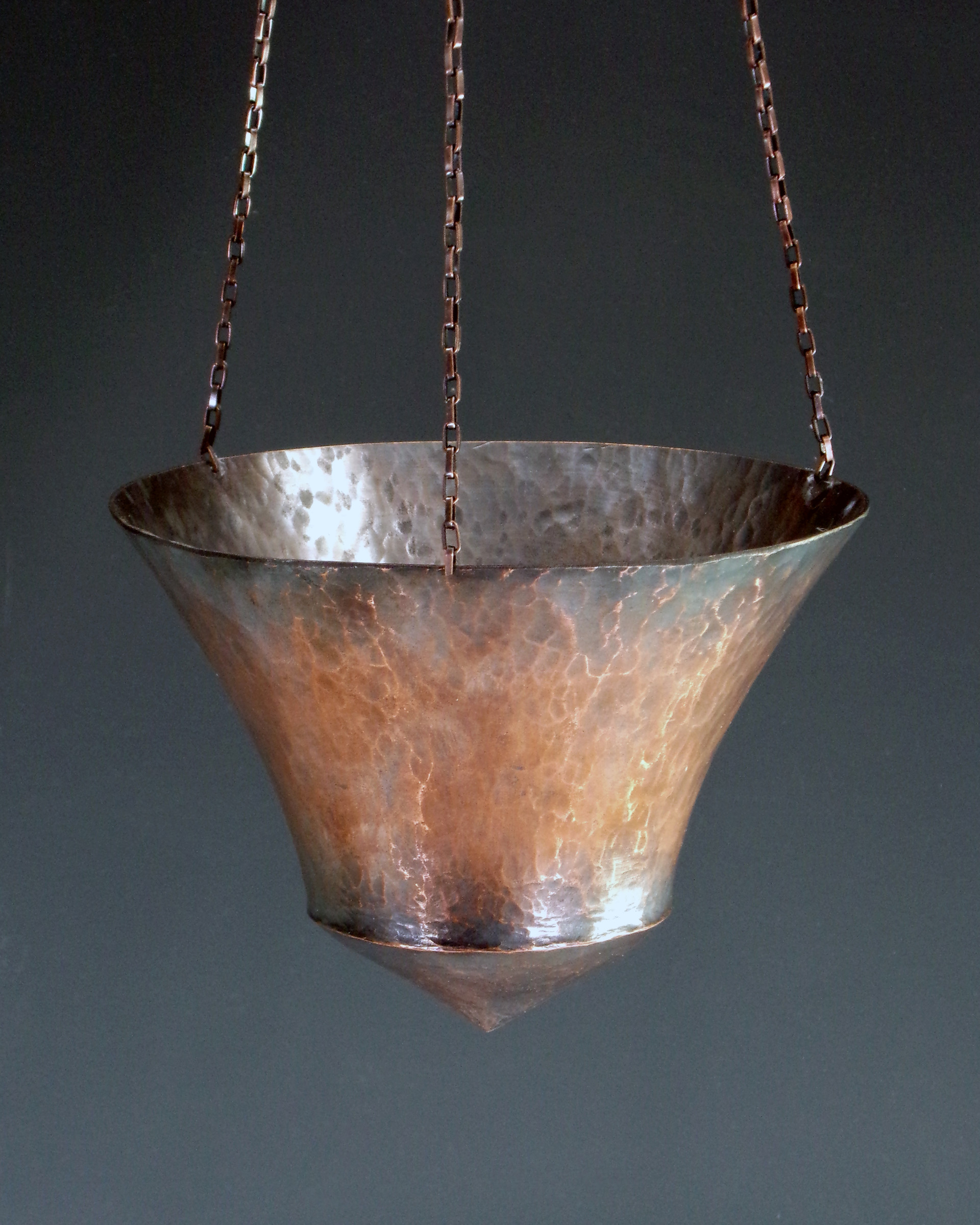 Collateral Damage [Detail], Raised Copper and Copper Chain, 2020