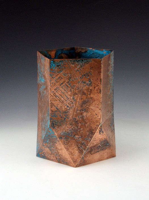 The Sparrow Always Finds Its Way Home, Etched and Folded Copper, 2019