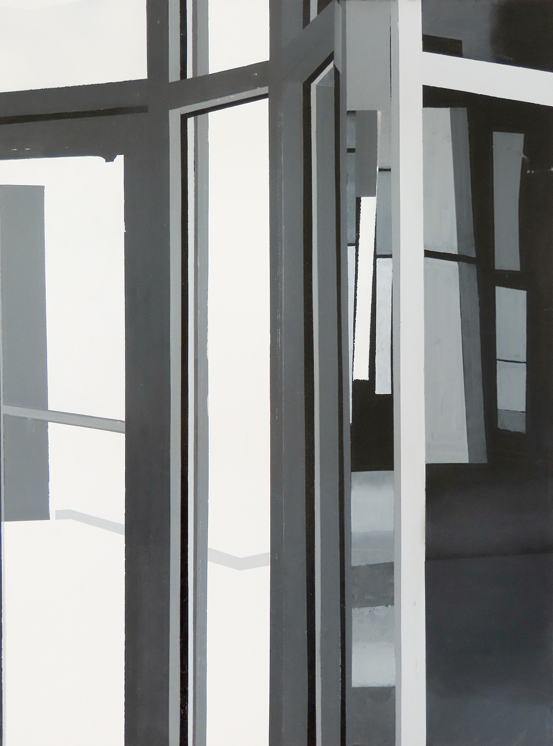 "Simulation, Acrylic on Wood Panel, 20""x40"", 2020"