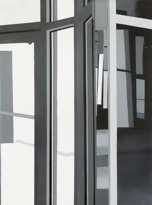 """Simulation, Acrylic on Wood Panel, 20""""x40"""", 2020"""
