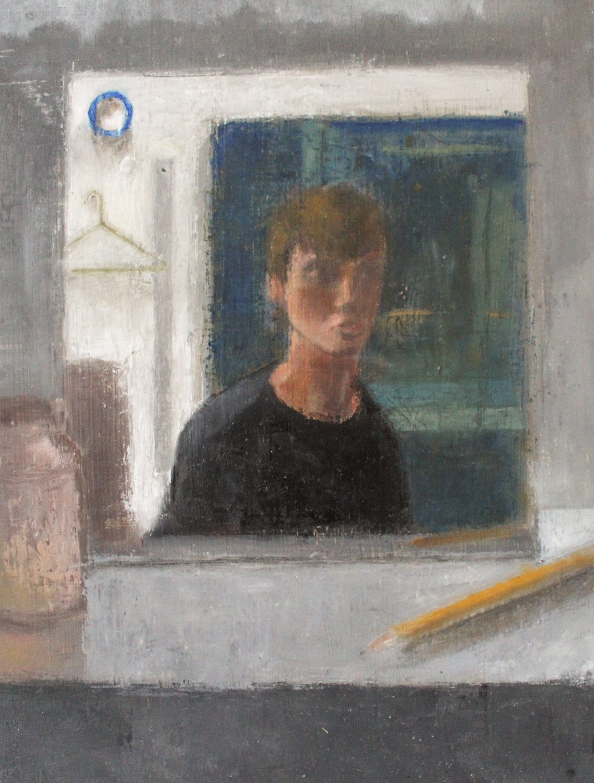 "Self Portrait, Oil on Panel, 10""x8.5"", 2019"