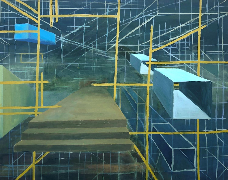"Active Passage, Oil on Canvas, 60""x48"", 2020"