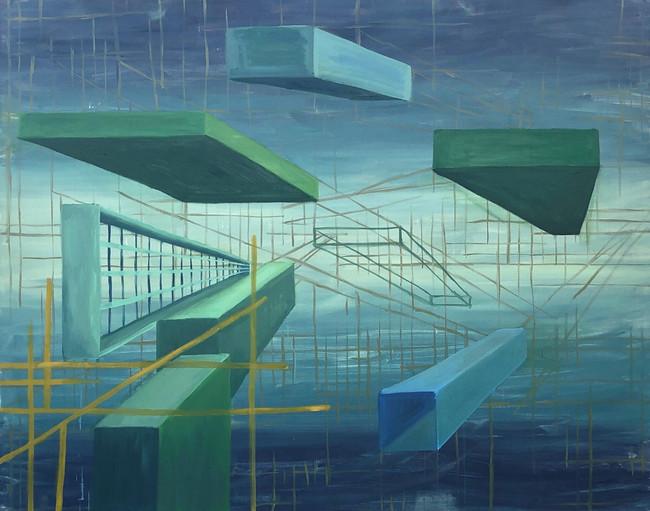"Distant Development, Oil on Canvas, 60""x48"", 2020"