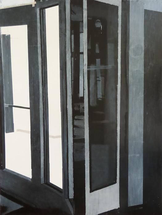"White Light/White Heat, Oil on Wood Panel, 36""x48"", 2020"