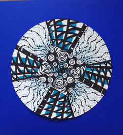 Custom Mandala Zentangle Art Lesson