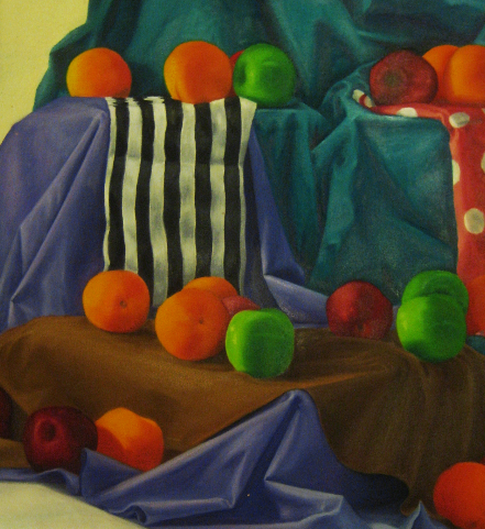 Cloth and Fruit Study