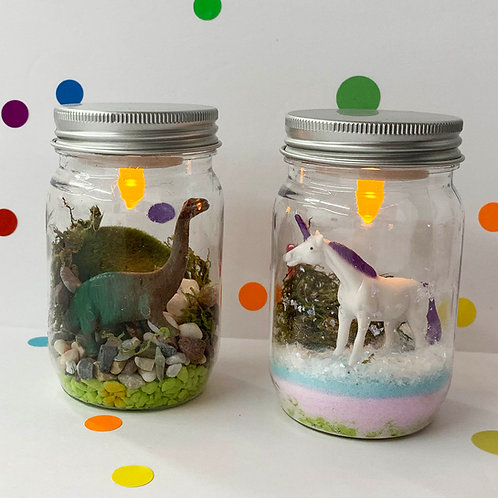 Unicorn or Dino Nightlight Jar - Take Home Kit