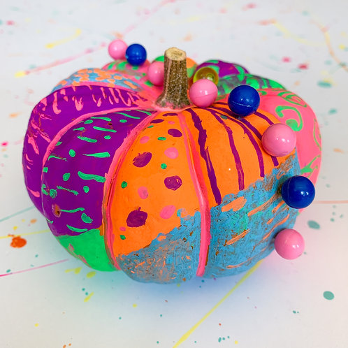 Chalk Painted and Decorated Pumpkin - Take Home Kit