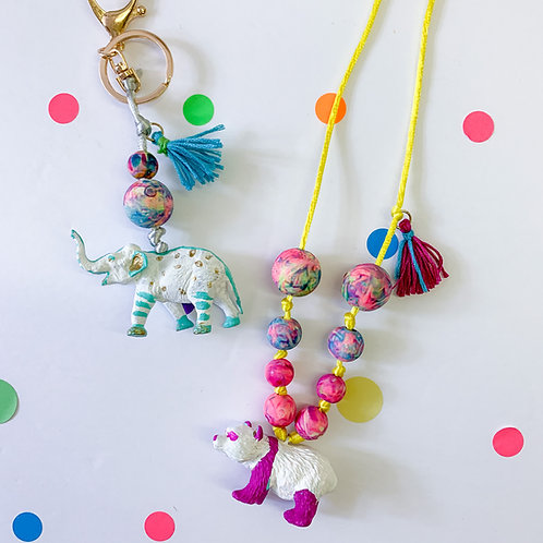 Endangered Animals Necklace or Keychain - Take Home Kit