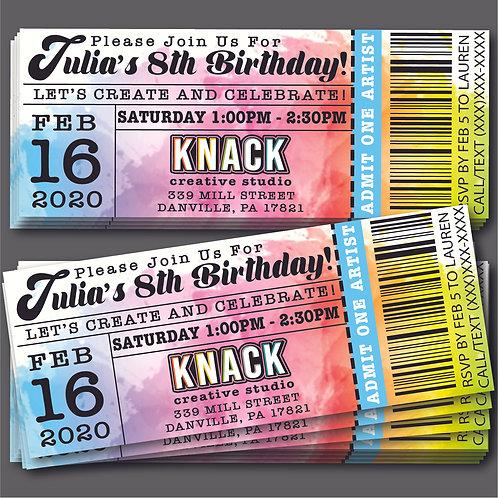 Digital File - Knack Party Invites